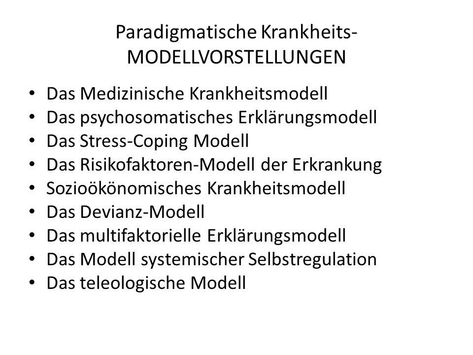 Paradigmatische Krankheits- MODELLVORSTELLUNGEN