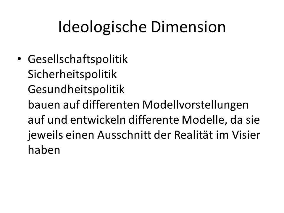 Ideologische Dimension