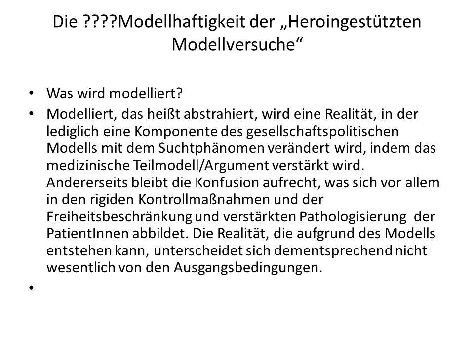"""Die Modellhaftigkeit der """"Heroingestützten Modellversuche"""