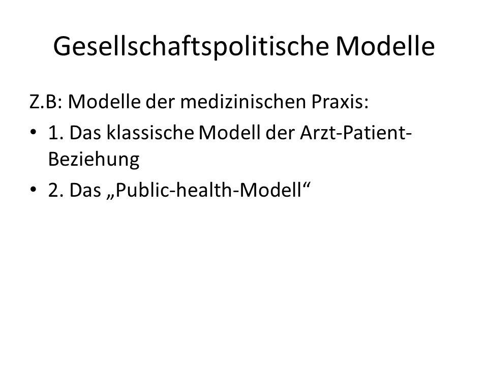 Gesellschaftspolitische Modelle