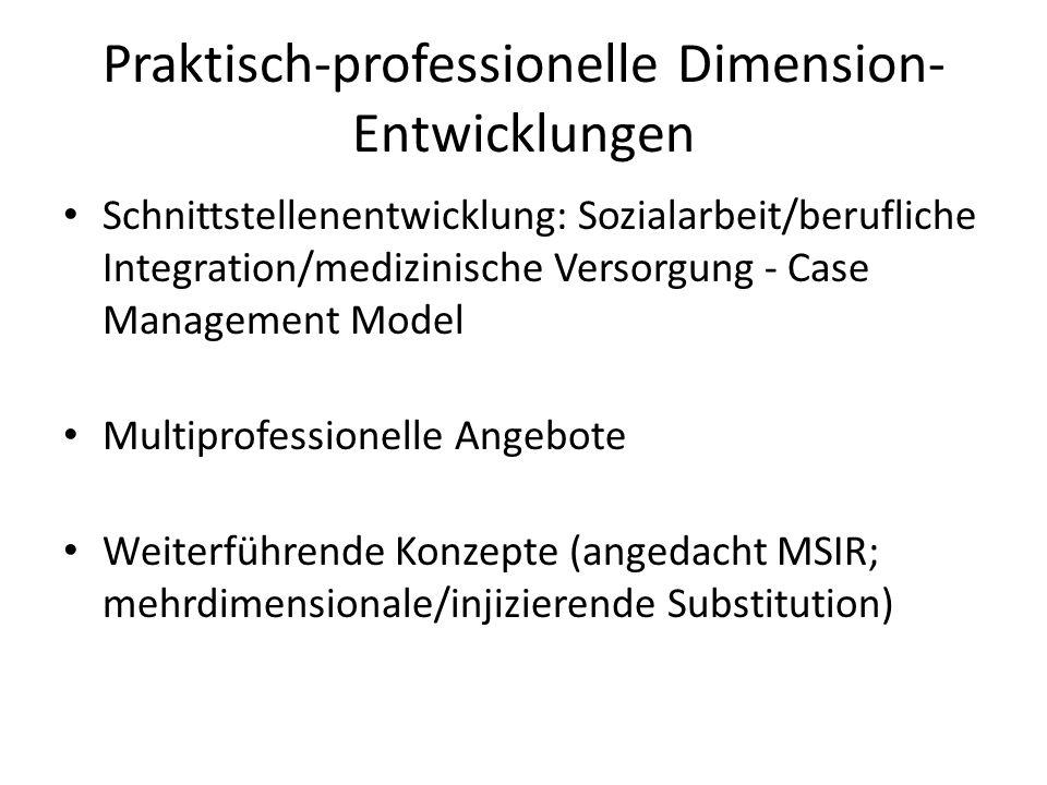 Praktisch-professionelle Dimension-Entwicklungen