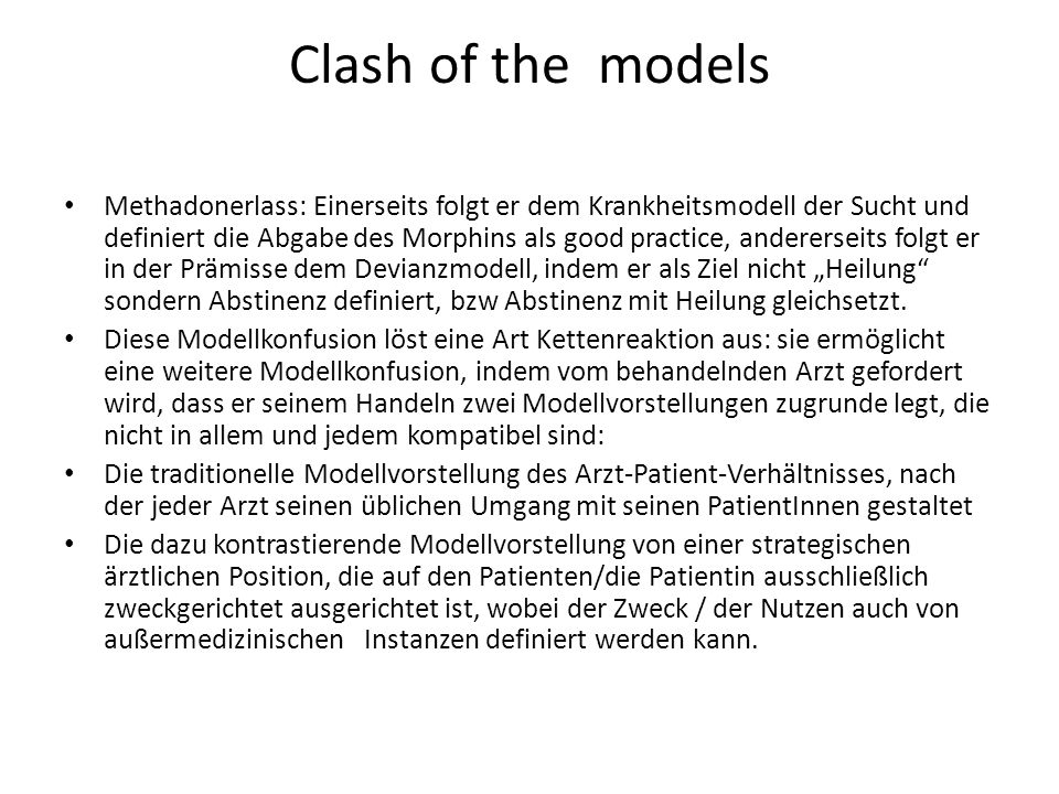 Clash of the models