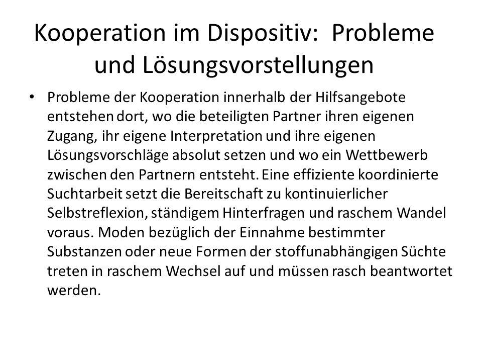 Kooperation im Dispositiv: Probleme und Lösungsvorstellungen