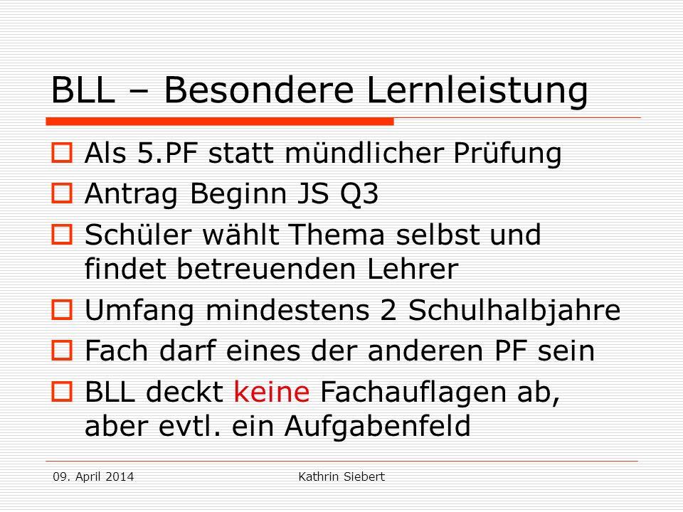 BLL – Besondere Lernleistung
