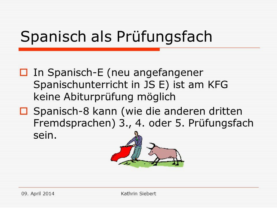 Spanisch als Prüfungsfach