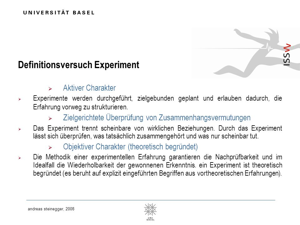 Definitionsversuch Experiment