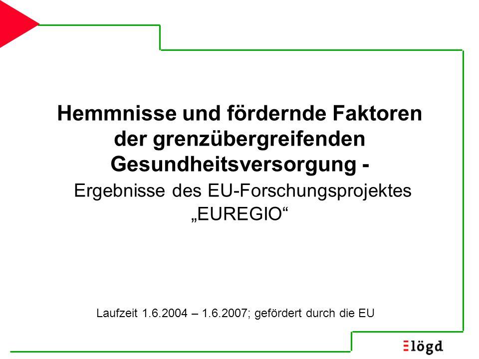 Laufzeit 1.6.2004 – 1.6.2007; gefördert durch die EU