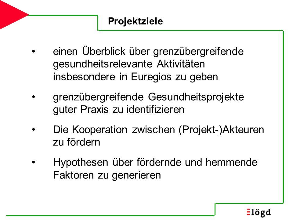 grenzübergreifende Gesundheitsprojekte guter Praxis zu identifizieren