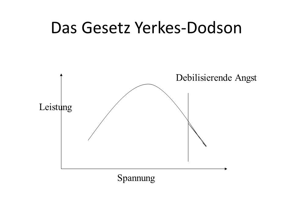 Das Gesetz Yerkes-Dodson