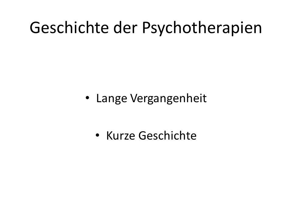Geschichte der Psychotherapien