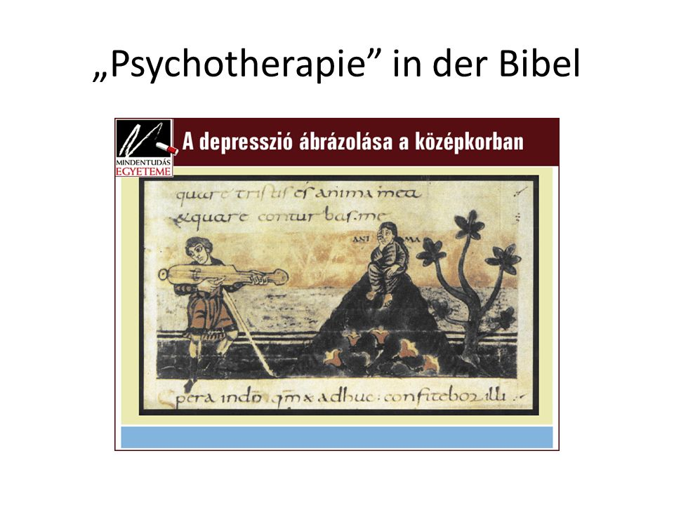 """""""Psychotherapie in der Bibel"""