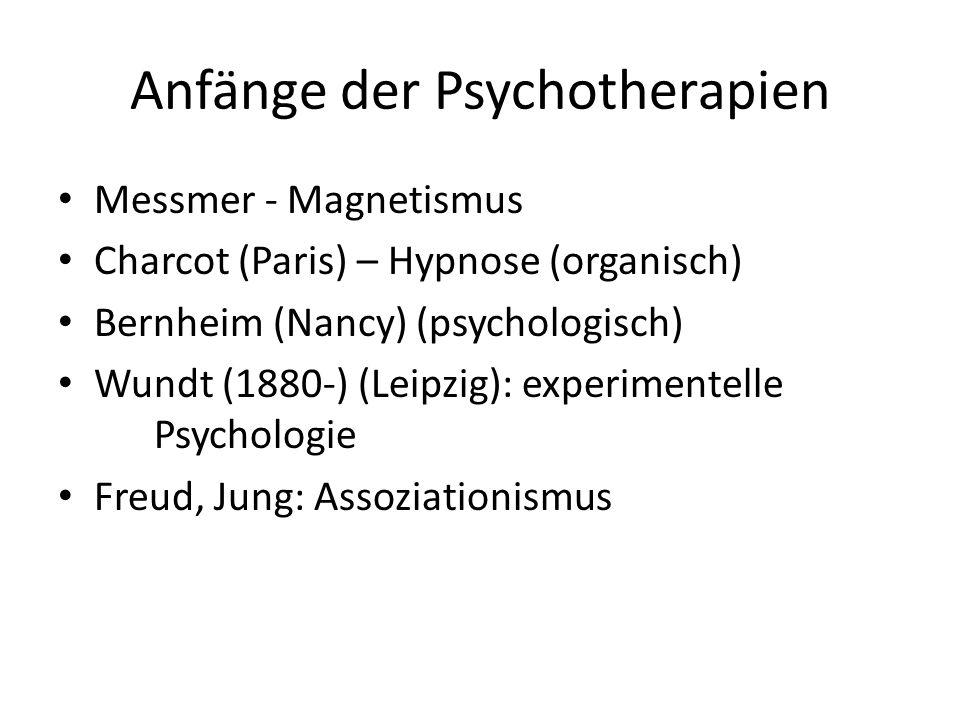 Anfänge der Psychotherapien