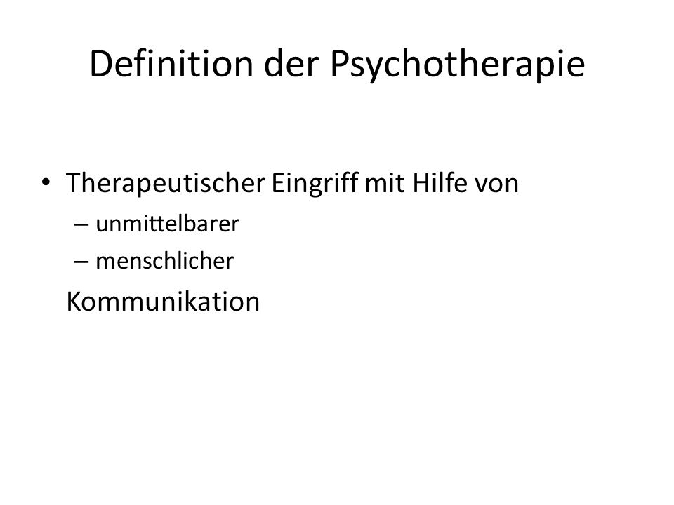 Definition der Psychotherapie