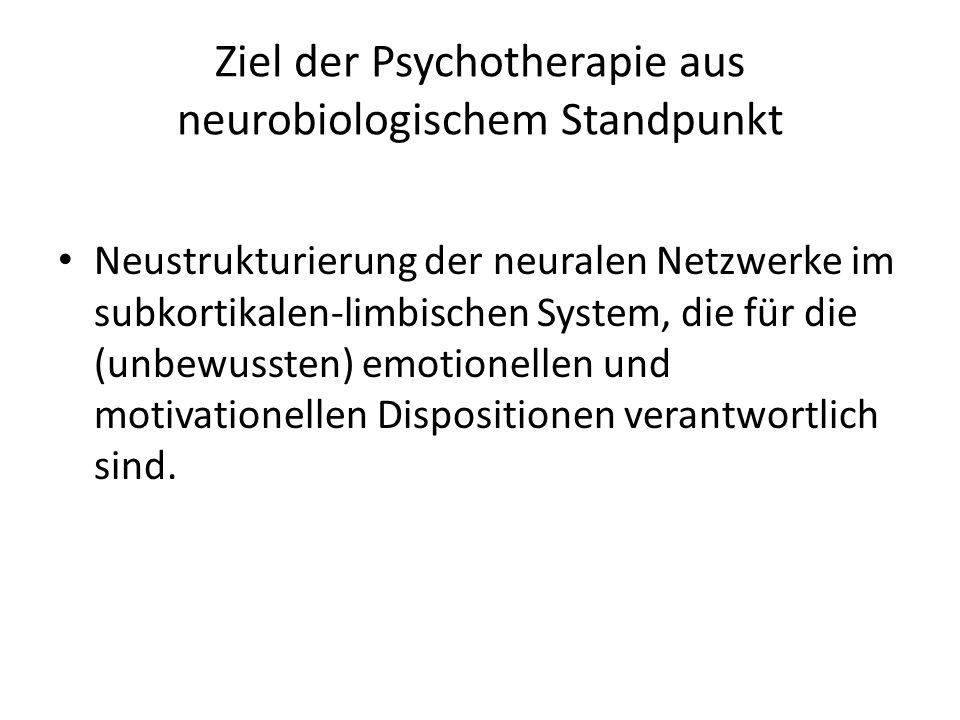 Ziel der Psychotherapie aus neurobiologischem Standpunkt