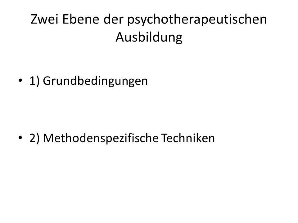 Zwei Ebene der psychotherapeutischen Ausbildung
