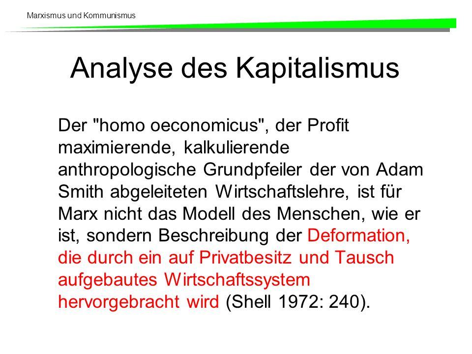 Analyse des Kapitalismus
