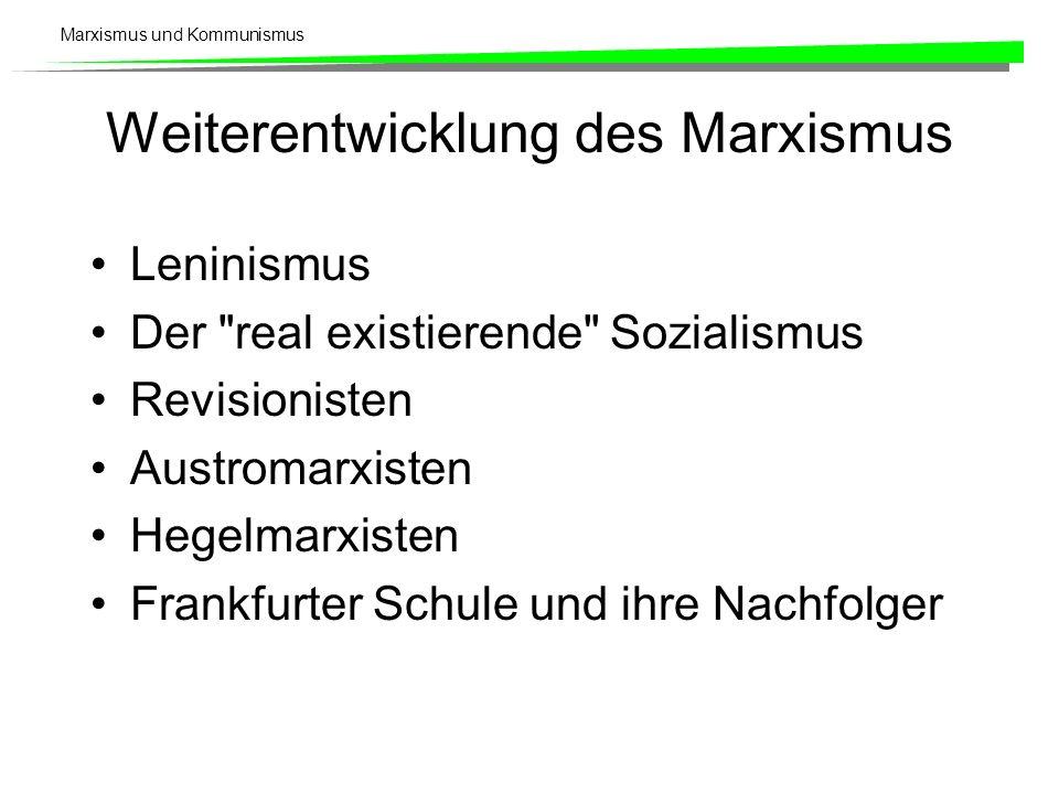 Weiterentwicklung des Marxismus