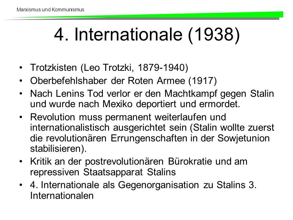 4. Internationale (1938) Trotzkisten (Leo Trotzki, 1879-1940)