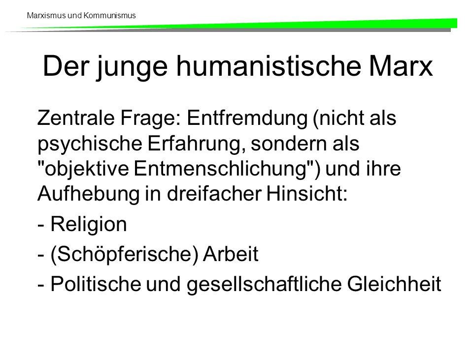 Der junge humanistische Marx