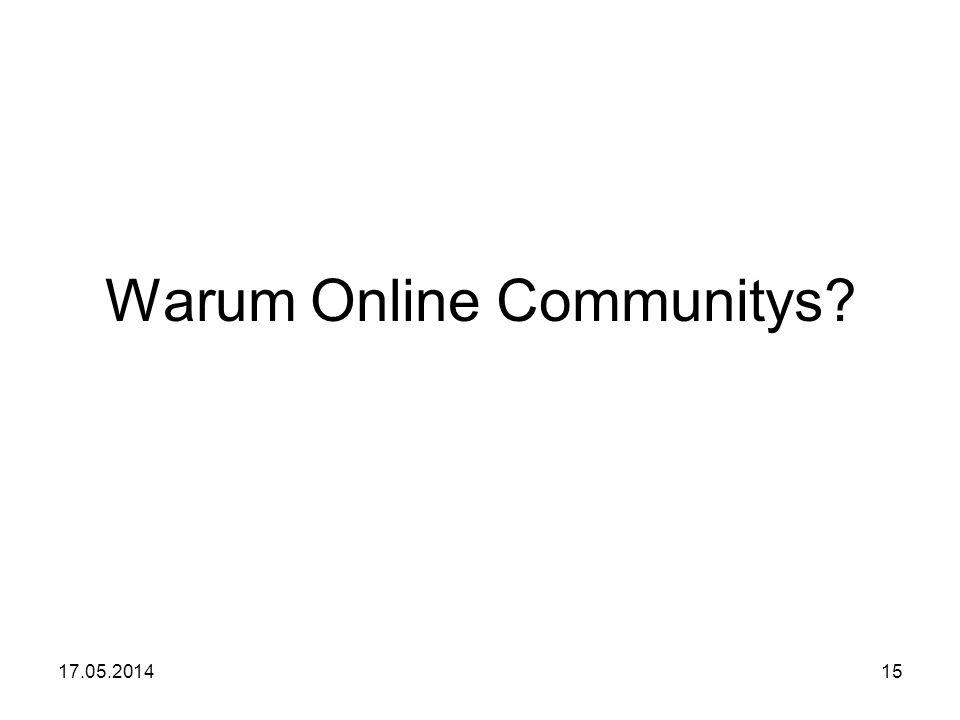 Warum Online Communitys
