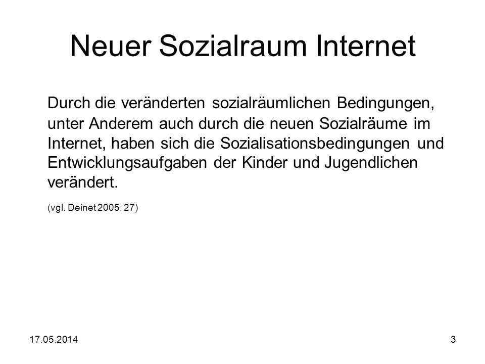 Neuer Sozialraum Internet