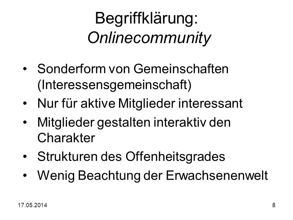 Begriffklärung: Onlinecommunity