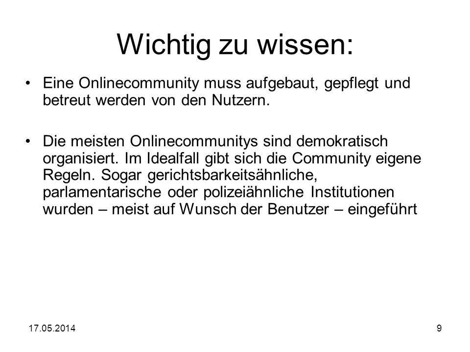 Wichtig zu wissen: Eine Onlinecommunity muss aufgebaut, gepflegt und betreut werden von den Nutzern.