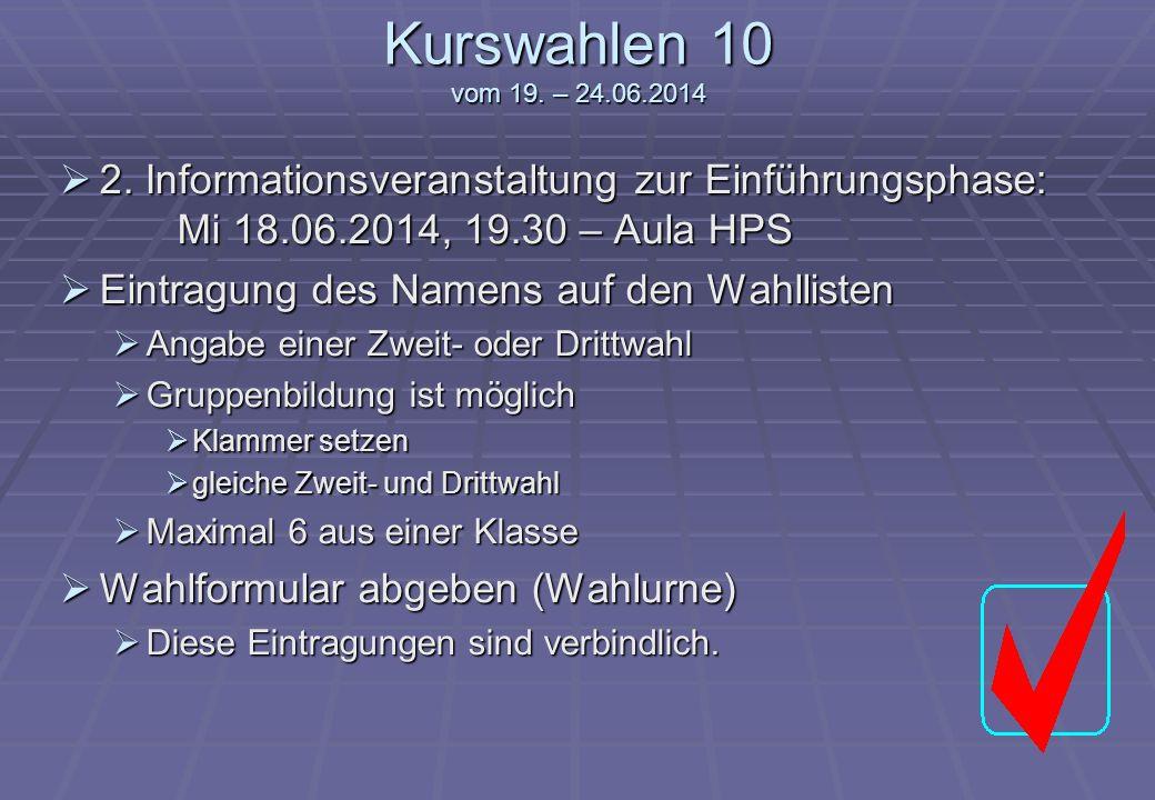 Halepaghen-Schule Kurswahlen 11