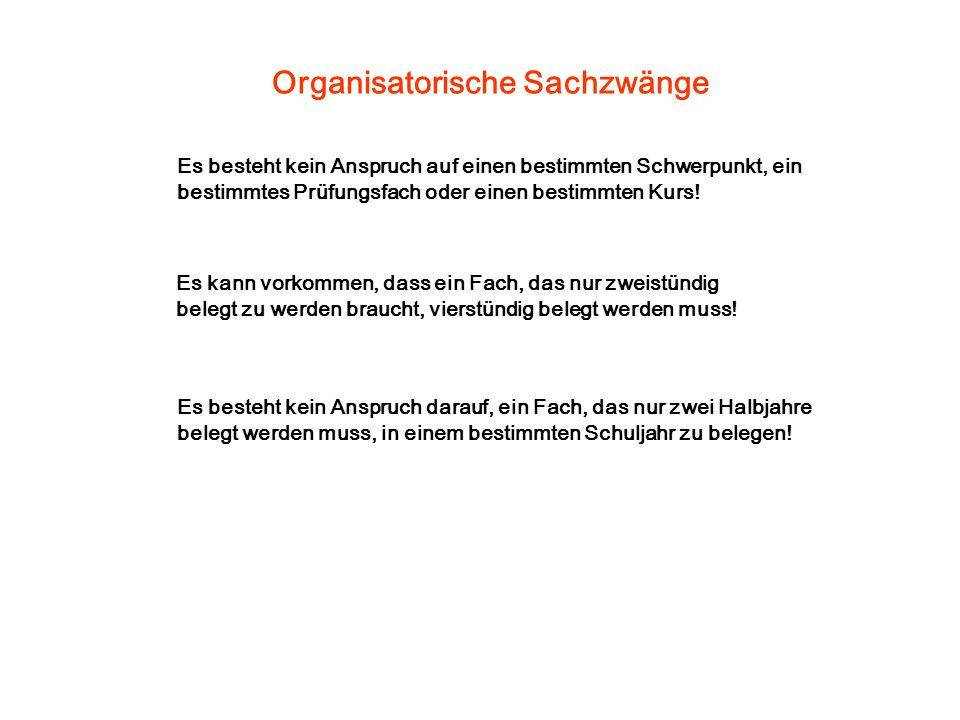 Organisatorische Sachzwänge