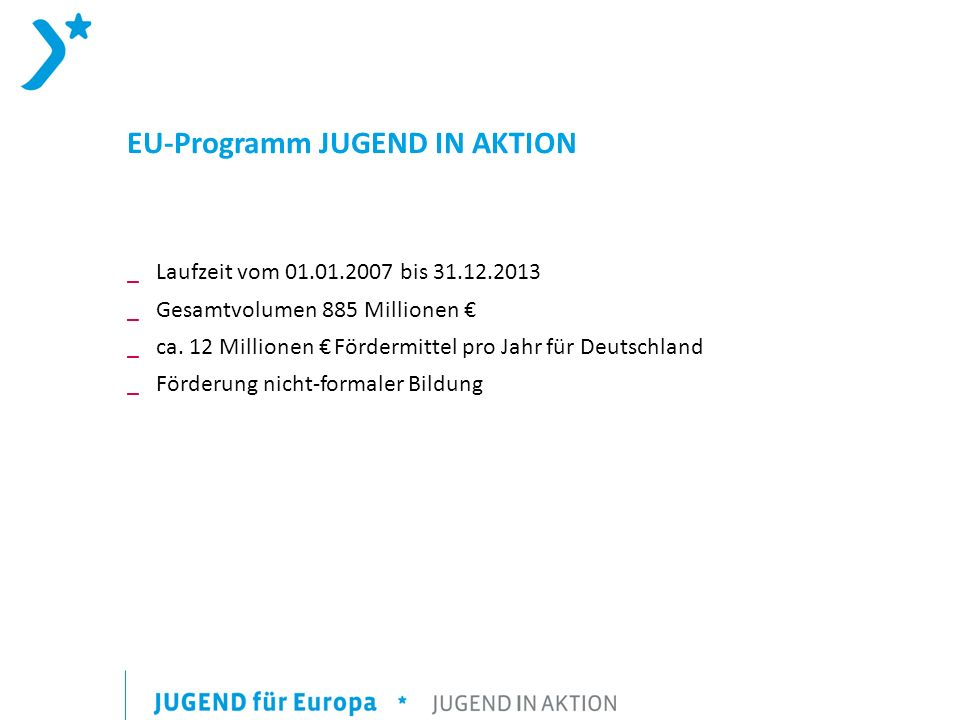 EU-Programm JUGEND IN AKTION