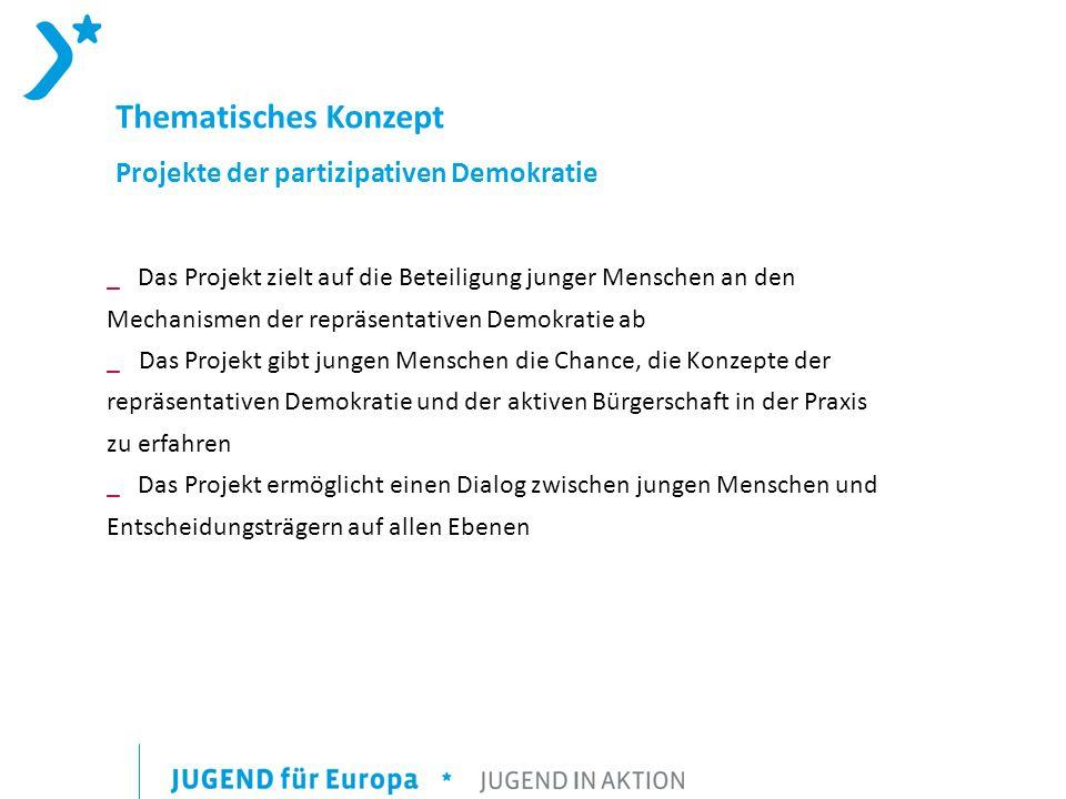 Thematisches Konzept Projekte der partizipativen Demokratie