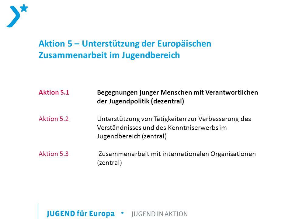 Aktion 5 – Unterstützung der Europäischen Zusammenarbeit im Jugendbereich