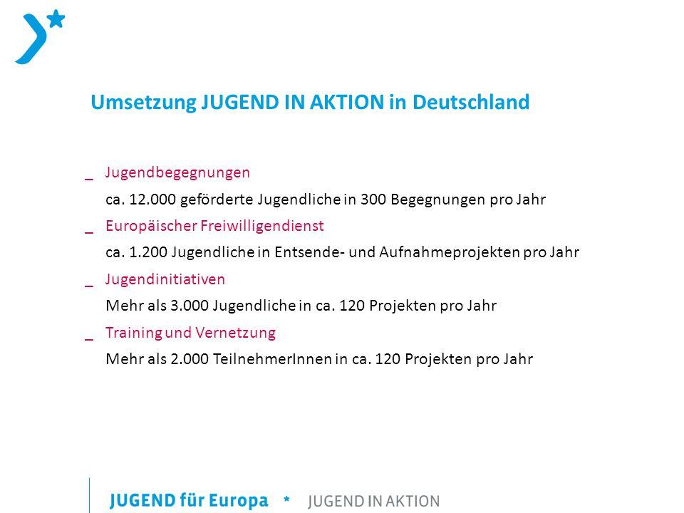 Umsetzung JUGEND IN AKTION in Deutschland