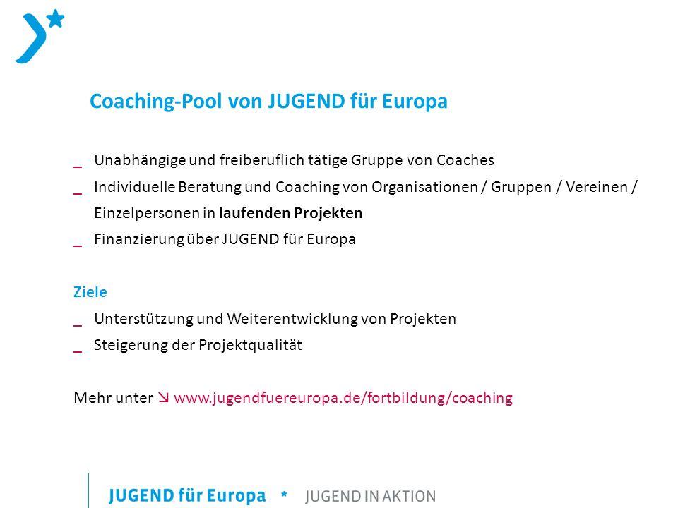 Coaching-Pool von JUGEND für Europa