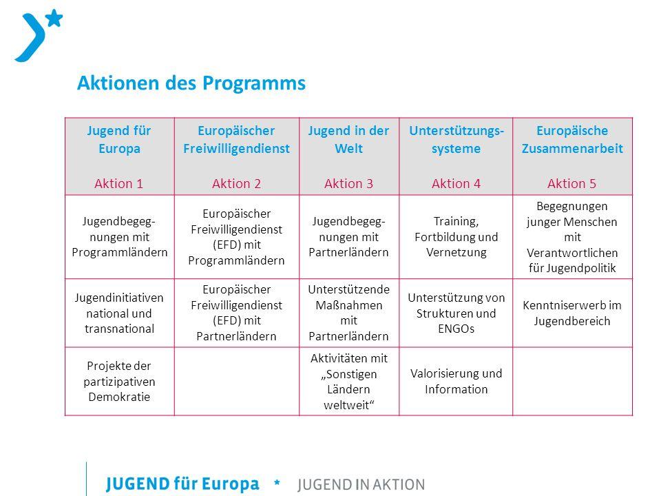 Aktionen des Programms