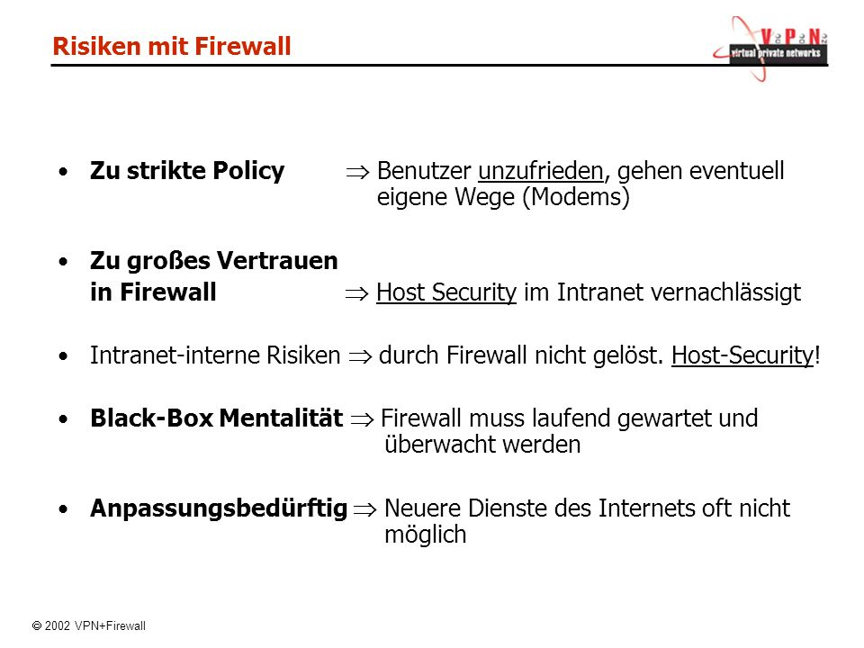 in Firewall  Host Security im Intranet vernachlässigt