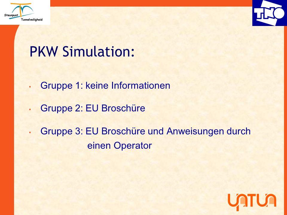 PKW Simulation: Gruppe 1: keine Informationen Gruppe 2: EU Broschüre