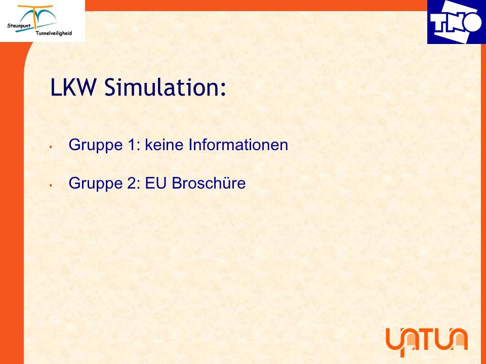 LKW Simulation: Gruppe 1: keine Informationen Gruppe 2: EU Broschüre