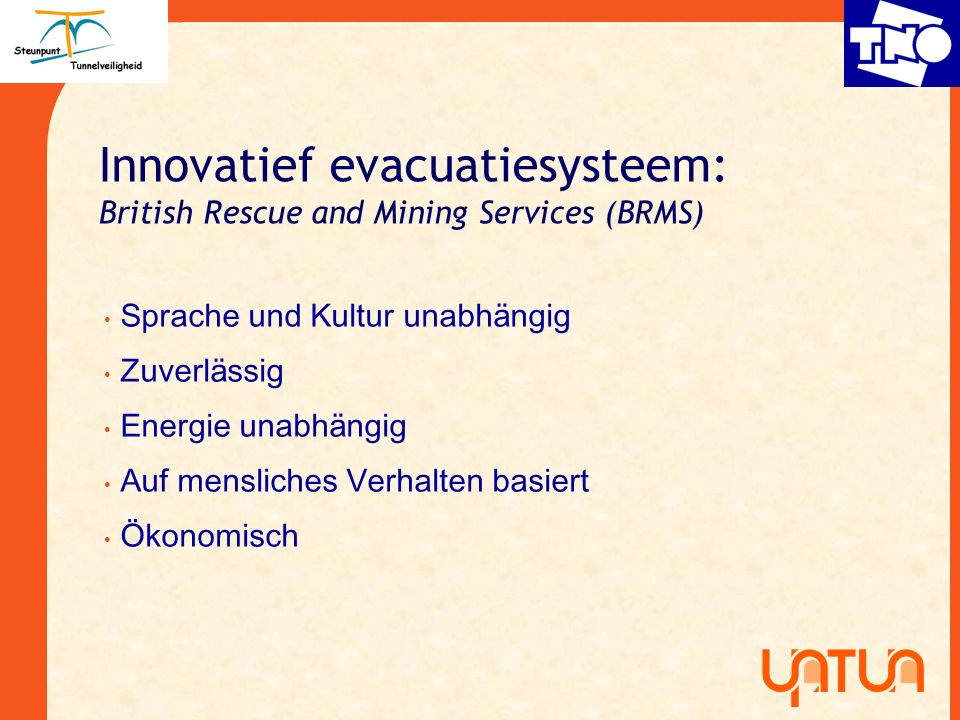 Innovatief evacuatiesysteem: British Rescue and Mining Services (BRMS)