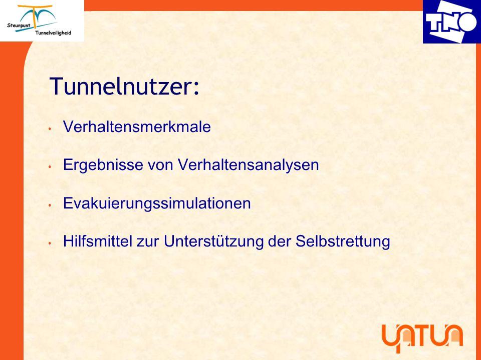 Tunnelnutzer: Verhaltensmerkmale Ergebnisse von Verhaltensanalysen