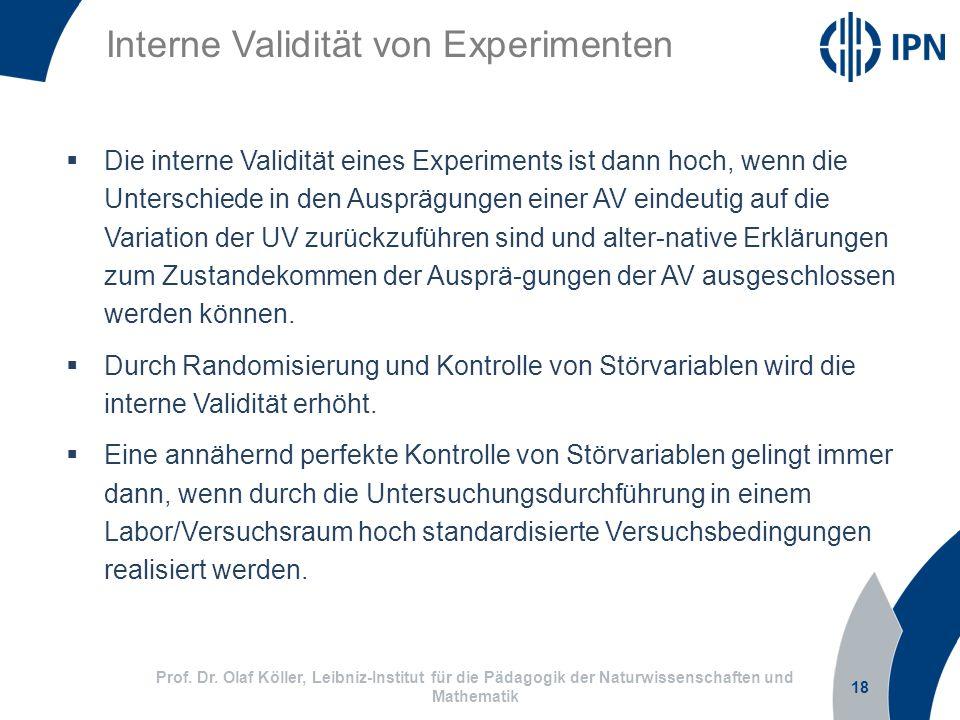 Interne Validität von Experimenten