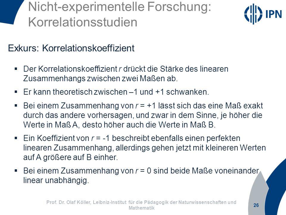 Nicht-experimentelle Forschung: Korrelationsstudien