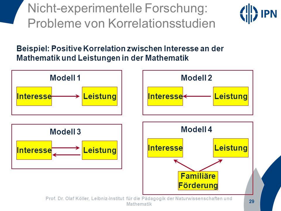 Nicht-experimentelle Forschung: Probleme von Korrelationsstudien