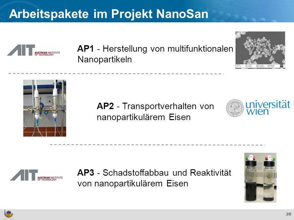 Arbeitspakete im Projekt NanoSan