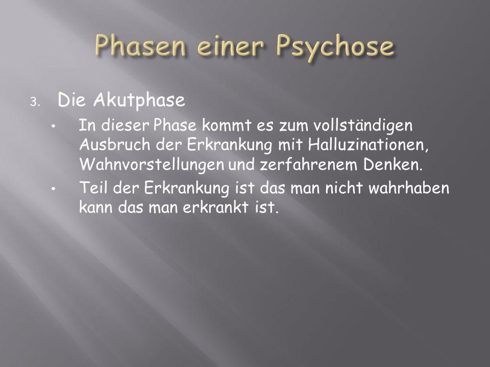 Phasen einer Psychose Die Akutphase