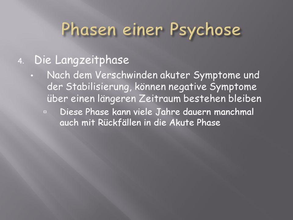 Phasen einer Psychose Die Langzeitphase