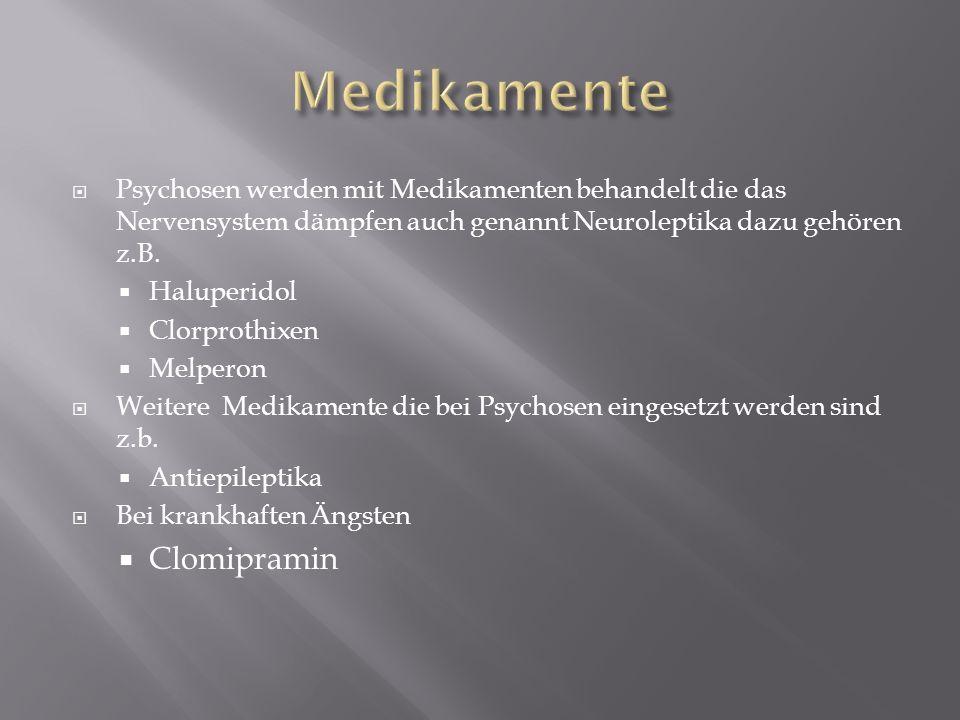 Medikamente Clomipramin