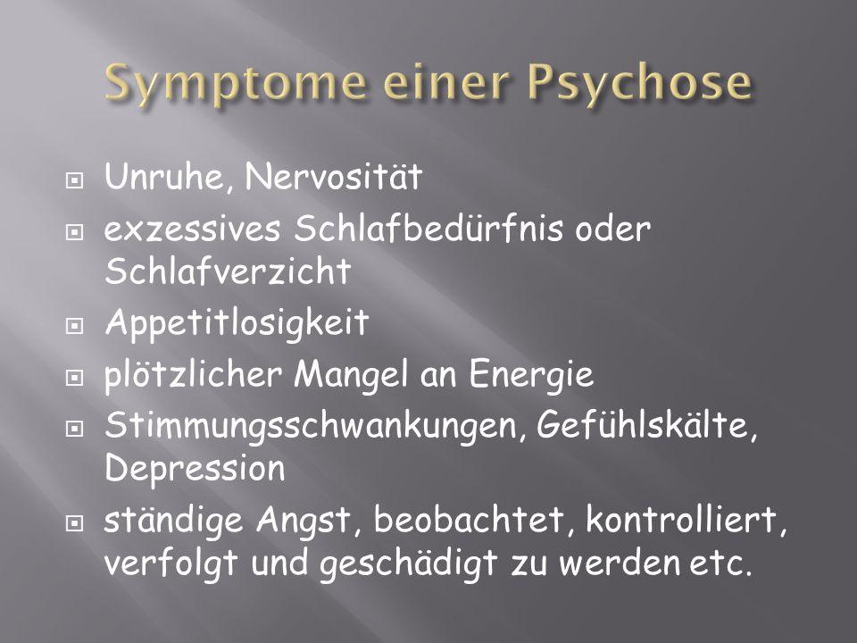 Symptome einer Psychose