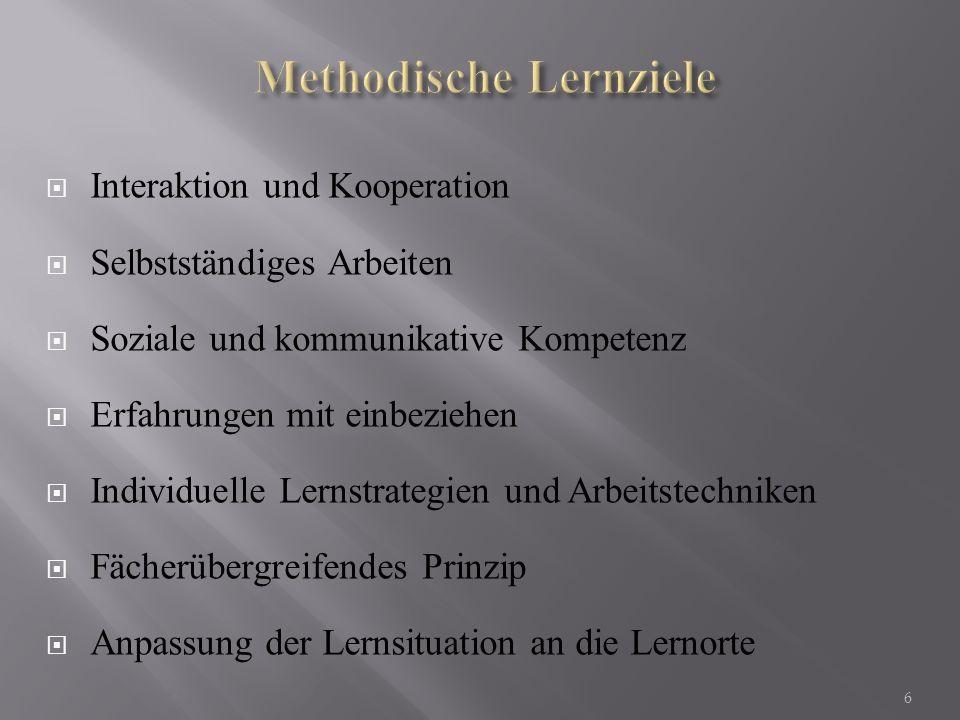Methodische Lernziele