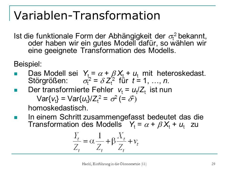 Variablen-Transformation